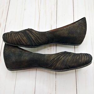 Earthies Shoes - Earthies | Vanya Rock Leather Raised Flats